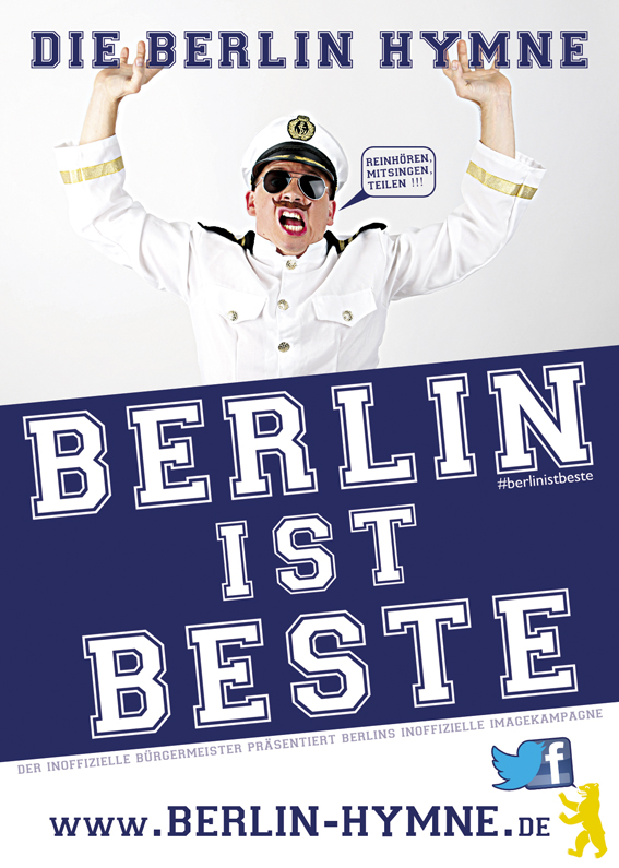 Der inoffizielle Bürgermeister präsentiert die Berlin Hymne - Berlin-Ist-Beste